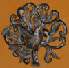 Mini Nesting bird wall art haiti metal