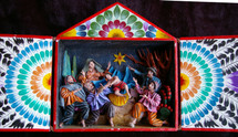 Peruvian Nativity Retablo
