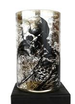 "Day of the Dead Skeleton Glass FVase 4.5"" x 8"""