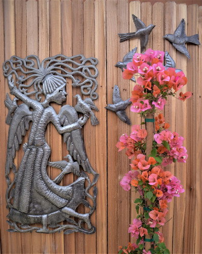 Angel Dance, Haitian Metal Wall Art, It's Cactus