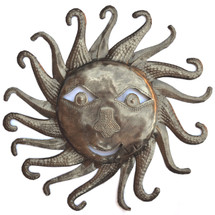 haiti bursting sun, spring garden sun, smiling sun, metal sun