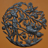 chicken farmer haiti metal art