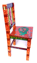 "Guatemalan Hand Painted Chair 14"" x 13.25"" x 32.5"""