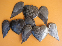 """Hearts with Wings (set of 3)  SM364  6"""" X 3"""""""