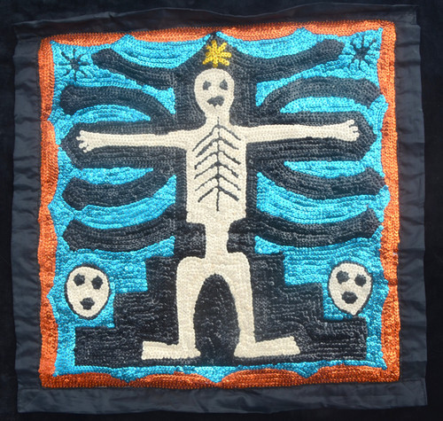 voodoo flag Skeleton Day of dead
