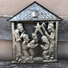nativity creche Haitian metal wall decor