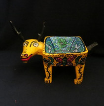 Bull Bowl Fruit holder carved with a machete in Guatemala
