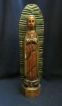 virgin mary wooden statue