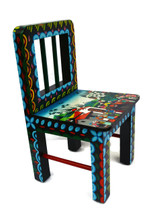 "Tigua Hand Painted Children's Chair 10"" x 10"" x 18.25"""