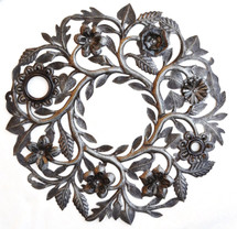 floral wreath garden decor