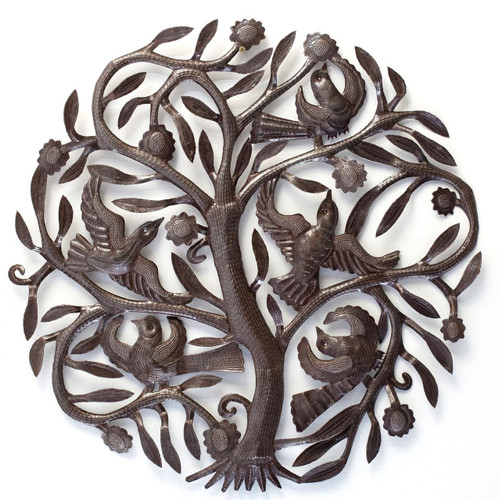 tree of life, Haitian metal wall art