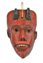 dance mask devil hand carved in Guatemala