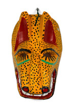 "Hand Carved Jaguar Mask 6.5"" x 5"" x 10"""