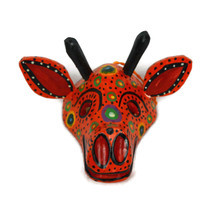 "Ornamental Hancrafted Giraffe Mask 3"" x 4"""