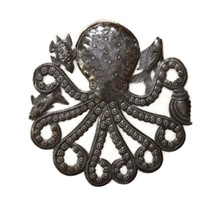 mini metal octopus, Haitian Art