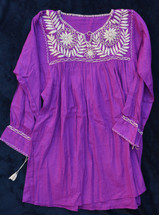Hand Embroidered Blouse Puebla Mexico  MEX0428
