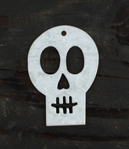Metal Skull Gift Tags (Set of 2)  3.5""