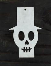 "Metal Top Hat Skeleton Gift Tags  (Set of 2)  3.5"""