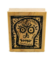 Sugar Skull Day of the Dead Rubber Stamp 2""
