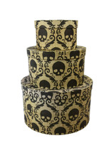 "Day of the Dead Antique Hat Box (set of 3) 5"" x 9"""