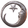 Crescent Moon with Star, Haitian Metal Wall Art