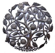 Haiti Metal Art, Tree of Life, with birds, Family Tree Roots, Handmade