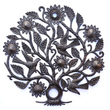 Haiti Metal Art, tree with birds and flowers
