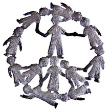 Peace Sign Haiti Metal Art