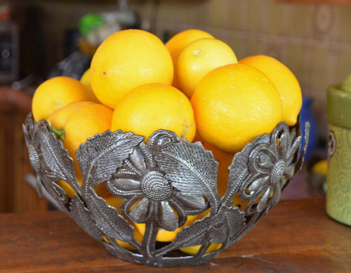 Handmade metal Fruit Bowl