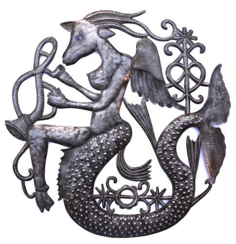 Musical Goat Mermaid , Mystical Art, Voodoo Haiti