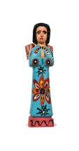 Folk art angel, colorful angel from Guatemala, Devotional Fine Craft