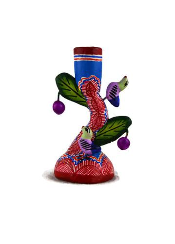 mini cactus candle holder, folk art mexico
