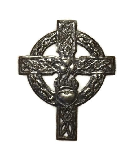 Celtic Cross, Irish Cross, Haitian Metal Art