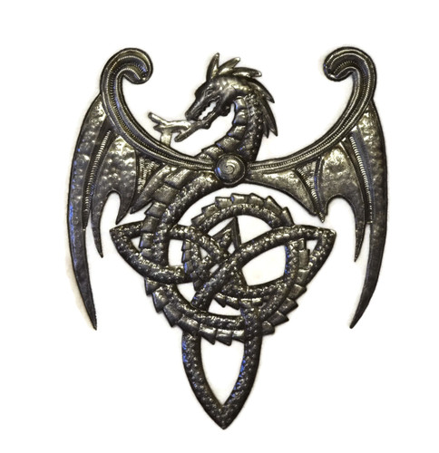 celtic dragon, celtic knot, Haitian Metal Art
