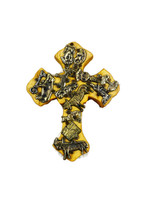 cross with milagros charms, Handmade in Mexico