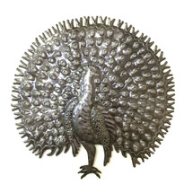 Large Metal Peacock