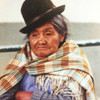 Cholita, Bolivian woman in La Paz with Bowler Hat