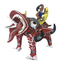 Ocumicho Mexico Girl Riding Devil Dog