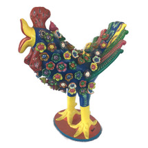 Gerardo Ortega Rooster with Feathers Large Blue