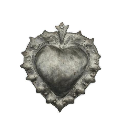 sacred heart, metal wall art, haiti fair trade