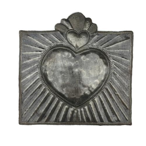 Haiti metal heart, sacred heart