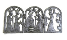 Decorating with Haiti Metal Art Triptych Nativity