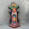 """Virgin Mary, Artisan Crafted Wooden Saints 3.5"""" x 3"""" x 7.5"""""""