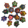 Turtles Bright hand painted and hand sculpted clay beads from Guatemala