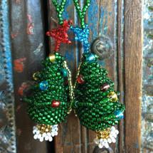 Christmas tree beaded ornaments Guatemala