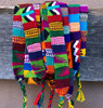 Guatemalan multicolor tones / Colorful Hatband, Wrap around self tie, Handwoven Multi-color Trim (set of 3)