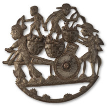 Chicken Farmers with Wheel, Haiti Metal Artistry