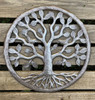 """New Garden Tree of Life, Quality Craftsmanship from Haiti, Handmade from Recycled oil drums 17"""" x 17"""""""
