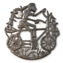Boy on Bike, Siblings, Love, Family, Haiti Metals, Quality Art