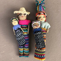 "Guatemalan Worry Doll Magnets  4"" set of 2"